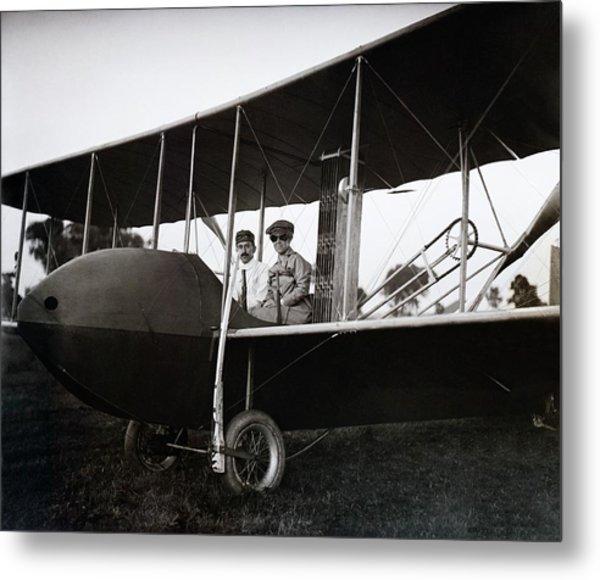 Wrights In Model Hs Airplane Metal Print