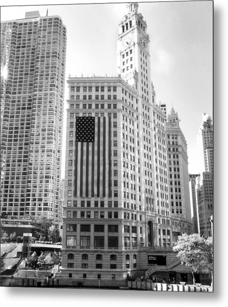 Wrigley Building Chicago Metal Print