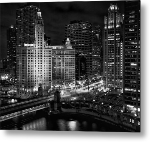 Wrigley Building In Chicago Metal Print