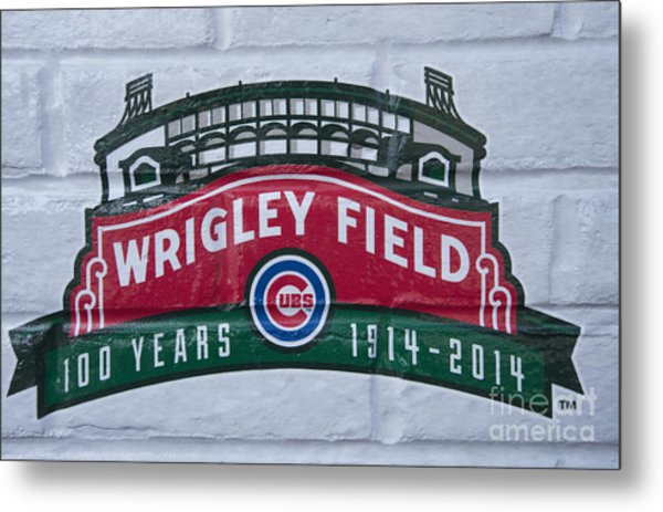 Wrigley Field At 100 Metal Print by David Bearden