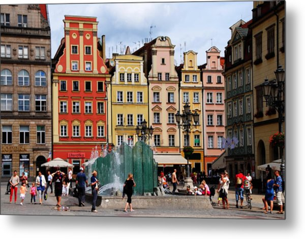 Wroclaw Old Town In Poland Metal Print by Jacqueline M Lewis