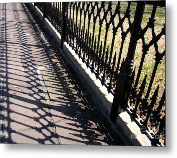 Wrought Iron Fence Metal Print by Eva Kato