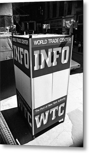 Wtc Info Sign Metal Print