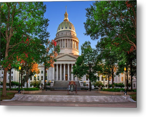 Wv Capitol As Dusk Metal Print