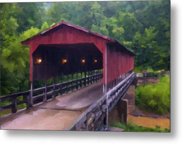 Wv Covered Bridge Metal Print