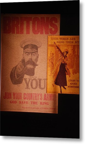 Ww1 Recruitment Posters Metal Print