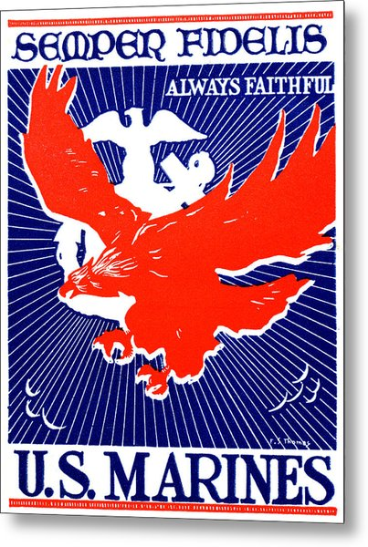 Wwii  Marine Corps Recruiting Poster Metal Print