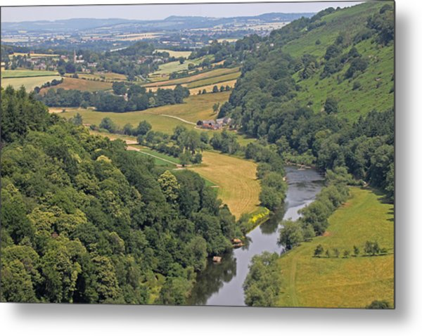 Wye Valley Metal Print