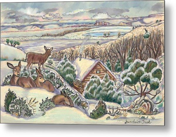 Wyoming Christmas Metal Print