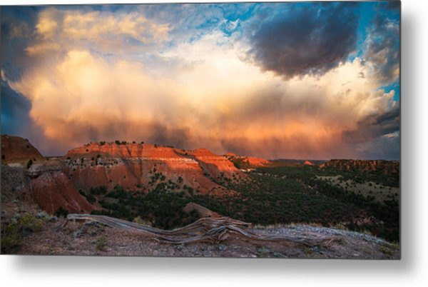 Wyoming Sunset Metal Print by Leland D Howard