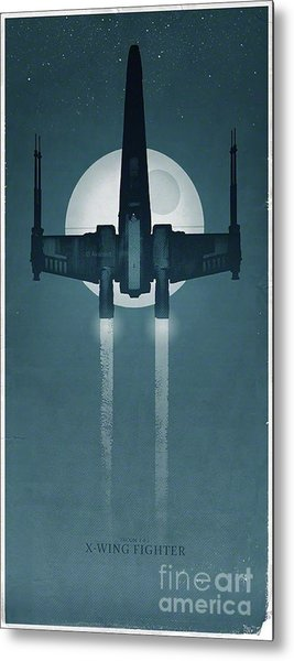 X Wing Fighter Metal Print by Baltzgar