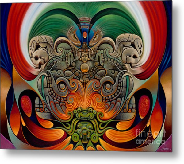 Xiuhcoatl The Fire Serpent Metal Print