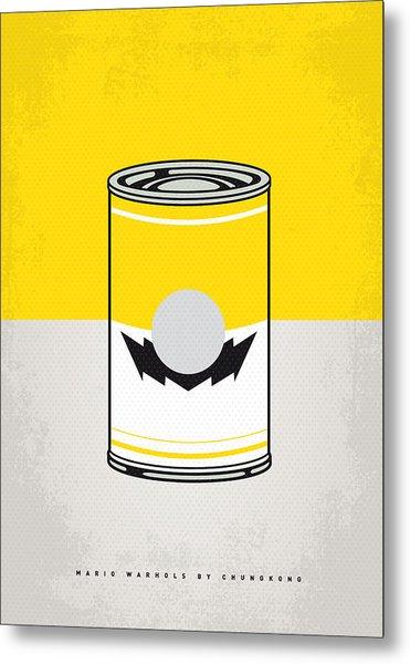 Y Mario Warhols Minimal Can Poster-wario Metal Print