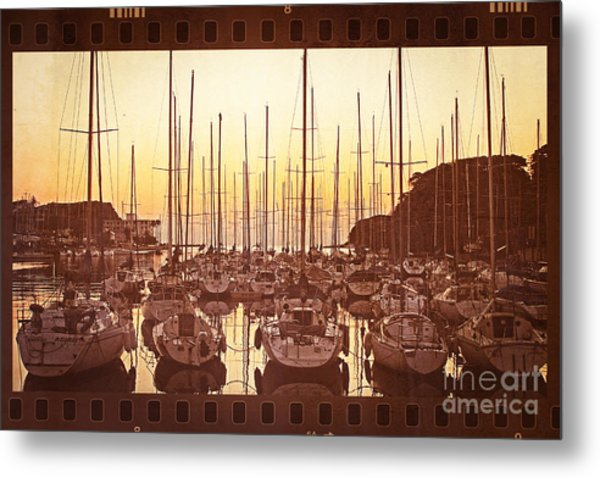 Yacht Harbor In The Late Afternoon Metal Print
