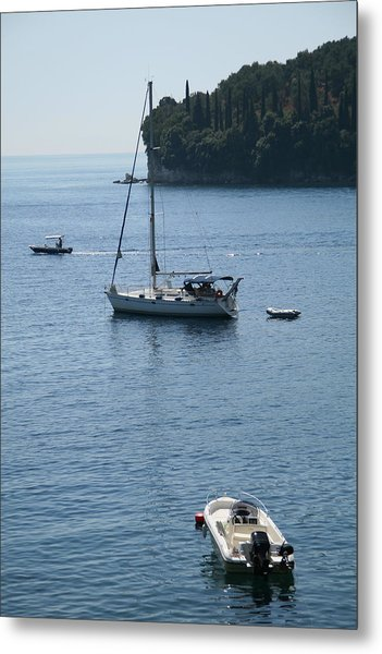 Yachts At Anchor Metal Print