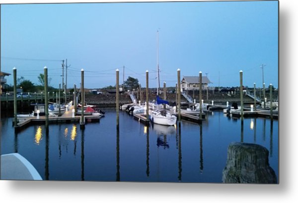 Yachts In Dock Metal Print