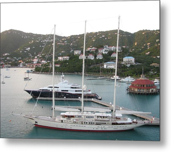 Yachts In St. Thomas Metal Print by Steven Parker