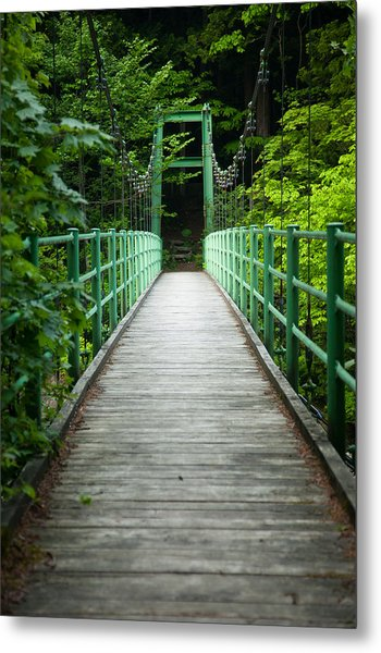Yagen Forest Bridge Metal Print