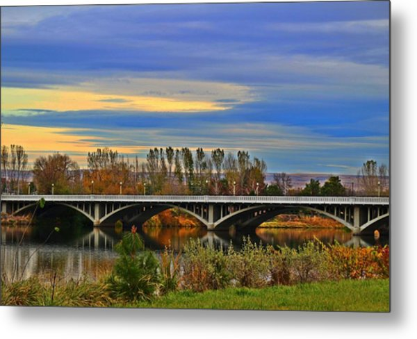 Yakima River Bridge Metal Print