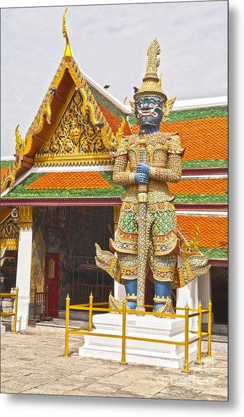 Yaksha Figure Wat Phra Kaew                   Metal Print by Colin and Linda McKie