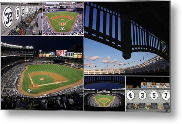 Yankee Stadium Collage Metal Print