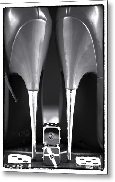 Yeah Baby In Black And White Metal Print by John Rizzuto