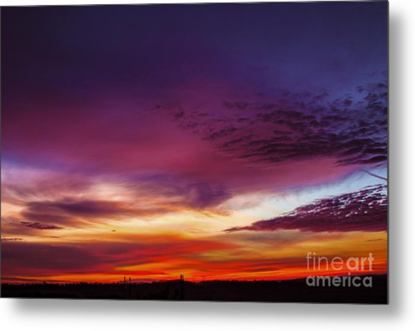 Year End Sunrise Metal Print