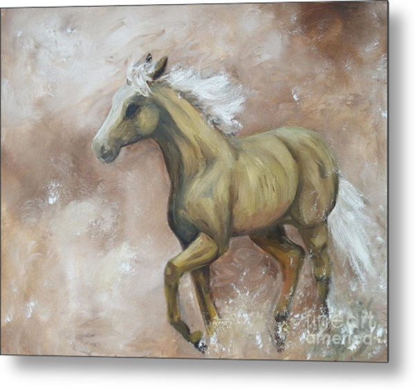 Yearling In Storm Metal Print