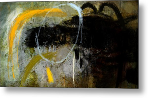 Yellow And Black Forms Metal Print by Jeremy Norton