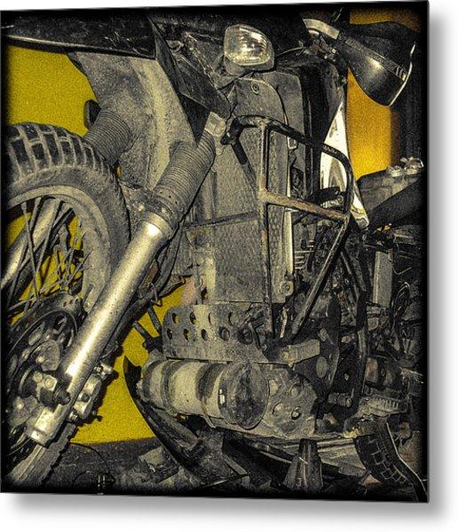 Yellow And Metal Metal Print