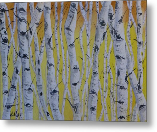 Yellow Birch Metal Print