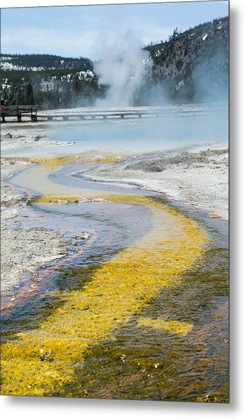 Yellowstone Brick Road Metal Print