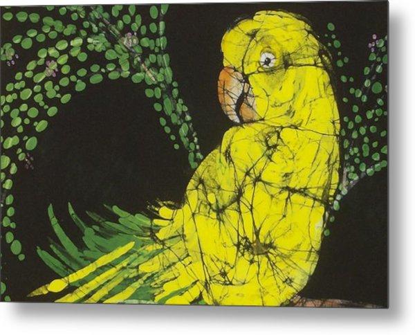Yellow Budgie Metal Print