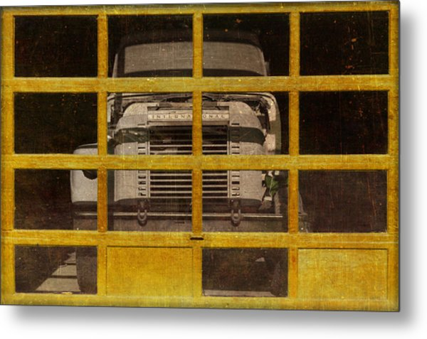 Yellow Cage Metal Print