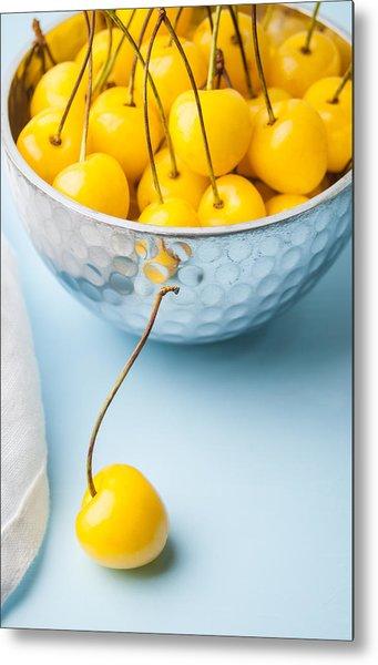 Yellow Cherries 1 Metal Print by Jennifer Blume