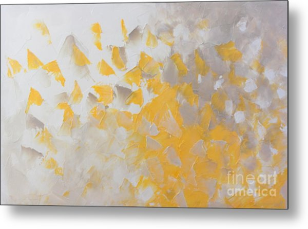Yellow Cloud Metal Print