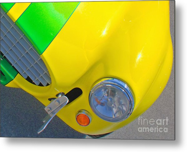 Yellow Cobra Metal Print by Hot Rod Pics