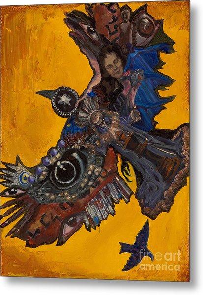 Yellow Crow Metal Print