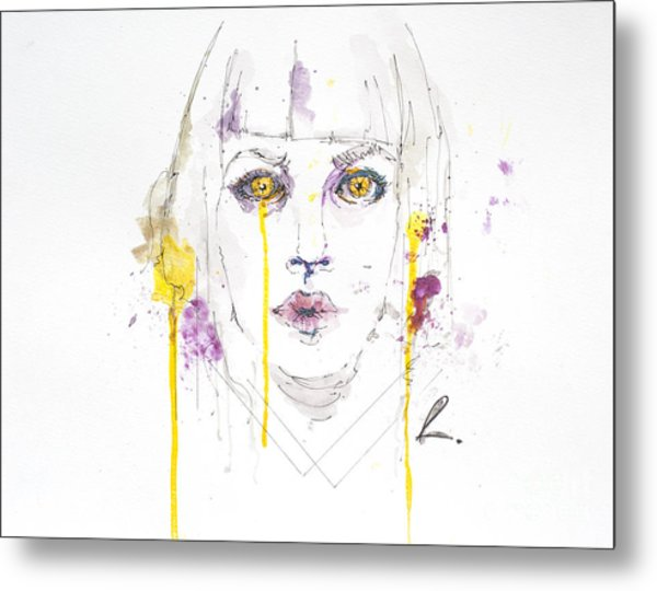 Yellow Metal Print by Edgar Rafael