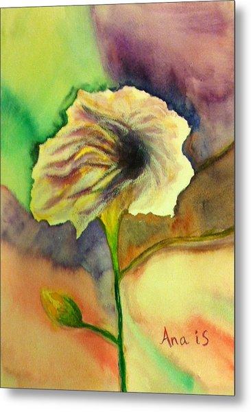 Yellow Flower Metal Print by Anais DelaVega