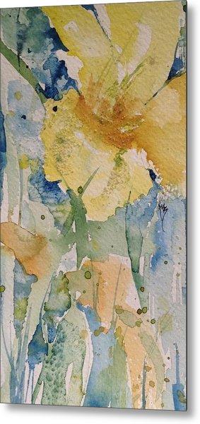 Yellow Flower Study Metal Print