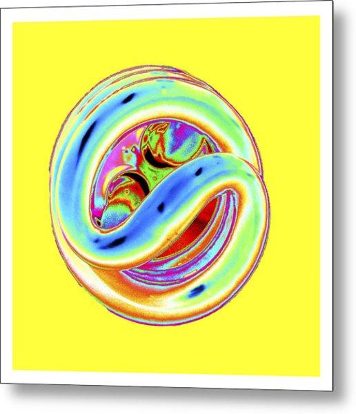 Yellow Fluorescent Metal Print