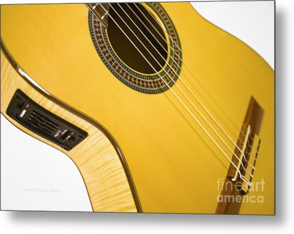 Yellow Guitar Metal Print