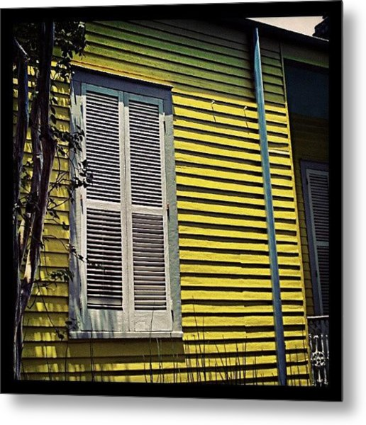 Yellow House New Orleans Metal Print