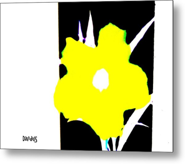 Metal Print featuring the photograph Yellow Jack W Logo by David Clark