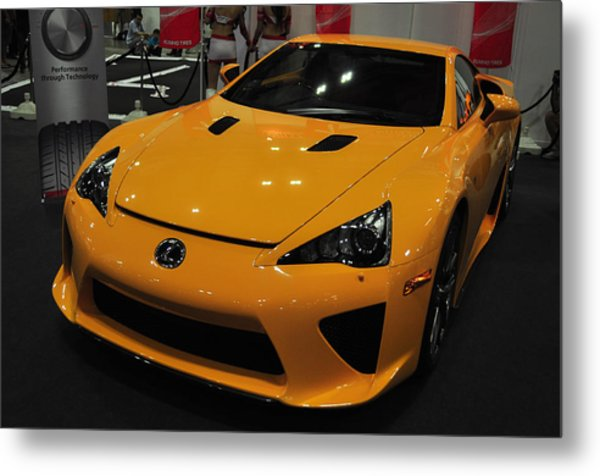 Yellow Lexus Metal Print