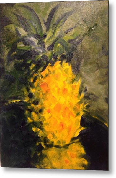 Yellow Light Metal Print