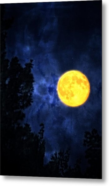 Yellow Moon Metal Print by Dan Quam