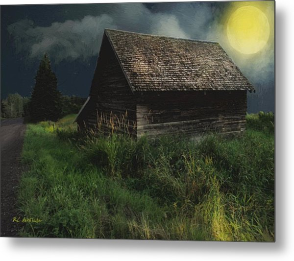 Yellow Moon On The Rise Metal Print