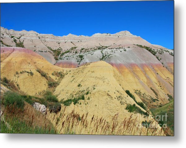 Metal Print featuring the photograph Yellow Mounds Badlands National Park by Jemmy Archer